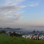 Sunrise in a misty valley, overlooking The Park. Misty eyes moment and scenery...