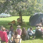 Martha Wainwright secret show in Michael and Emily's garden 2008