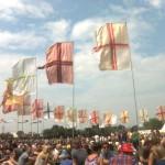 Flags at Jazz world.