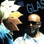 Jo Whiley (yes, in a sunflower hat) interviews Michael Eavis in 1995 for Channel 4