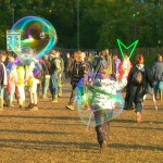 Bubbles always a part of Glastonbury