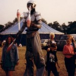 My mate Alison at my first Glastonbury.