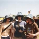 Buying big sun hats.