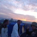 Lovely sunrise for the walk back to the tents on Monday morning.