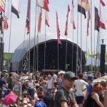 Flags at Jazz World stage