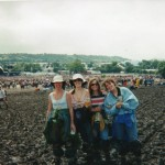 Pyramid hadn't been rebuilt by then, after '94, but this is themain stage...waiting for Robbie I think....weather not detering us as you can tell!!!