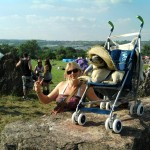 Jips 1st Glastonbury posing With The Captains sister