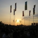 Flags in the Jazz World Stage field