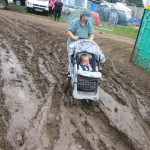 Glastonbury Weight Loss Programme: get a pushchair, push it in Glastonbury mud for a few days,and hey-presto, you are now 1 stone lighter!!