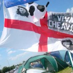 Curly's annual Glasto flag