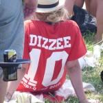 Dizzee girl in the football crowd.