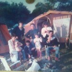 our little tribe,glasto `86....my daughter emma not in picture coz she still in her mum (in picture!)...great weekend....thanx!