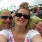 The happiness of Glastonbury turned our hair green!!!