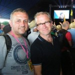 Mike Broom with Harry Enfield at the John Peel stage whilst watching Noah and the Whale :-)