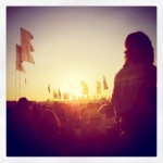 This was the sun set while the Kaisers were on the other stage.