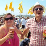 Mr & Mrs L enjoying 'Take over the World' by 'The Courteneers' Day 1,Act 1 ,Glasto 1.Happy,Happy Days!