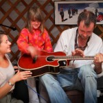 Music workshops with kids at our Music4Children yurt