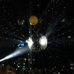 Mirror ball in the Despacio tent