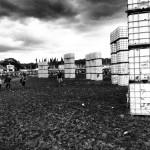 Cubehenge looking moody (and muddy) on Sunday 2014.