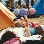 Just chilling  - Pyramid stage  - note the Tents!!!