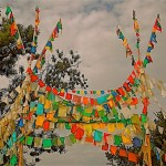 Prayer flag arch