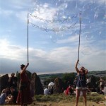 Bubbles at the stone circle