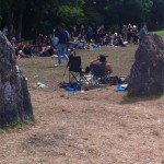 Stone circle, just before we left