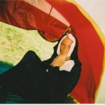 Trying to avoid the heat and sleepiness dressed as a nun in my tent!