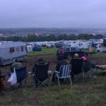 the que to be towed off site...see ya next time Glastonbury