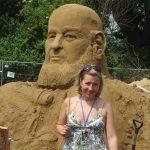 Michael Eavis in Sand