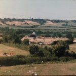 This was the  end of the Pilton pop festival Early eighties,a lot of green fields behind the pyramid stage then a little different now!,