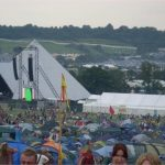 Pyramid stage view - Friday night!