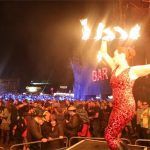 Circus Antics  fire performer  on the Hell Stage