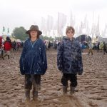 Max and Miles - their first Glasto
